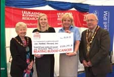 Gwenda Hughes-Consort to Chairman, Catriona Tait-Leukaemia and Lymphoma research regional manager, Diana Al-Zaidi-Director and Ray Hughes-Chairman of Flintshire