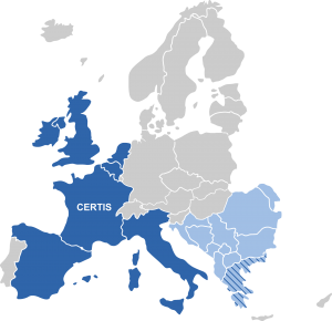 Figure 1 Certis Europe and KNE Certis territories