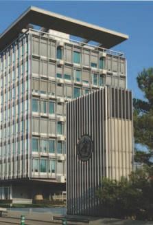 The headquarters of the World Health Organization (WHO) in Geneva, Switzerland