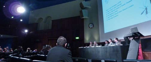 The Ondaatje Theatre at the Royal Geographic Society hosted the main presentations at the ISNTD 2013 event.