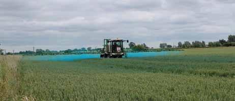 Measurement of spray drift into a field margin
