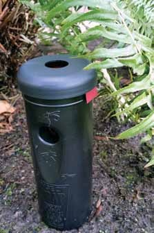 Trap-N-Kill is based on a US military design made to protect troops from the mosquitoes that carry tropical diseases, like Zika. The traps trick the mosquitoes into killing themselves.