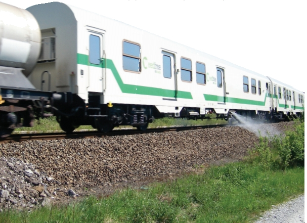 The Weedfree-on-Track spray train operating in Belgium.
